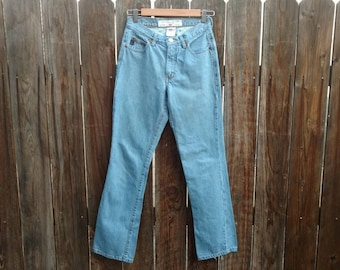 Vintage 90's Women's Guess Jeans Light Wash Low Waist Boot Leg Bootcut 26