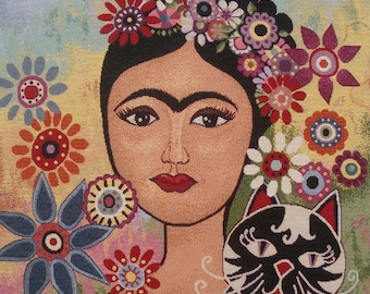 Fabric Panel tapestry print FRIDA KAHLO n 1 coupon