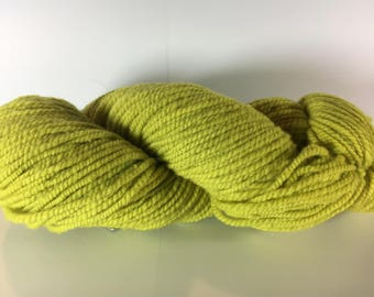 Fuzz, Worsted Weight Wool Yarn, Chartreuse