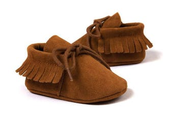 Baby Brown Moccasins