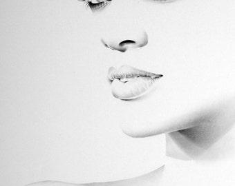 Rihanna Fine Art Signed Print Pencil Drawing