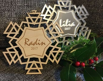Personalised snowflake