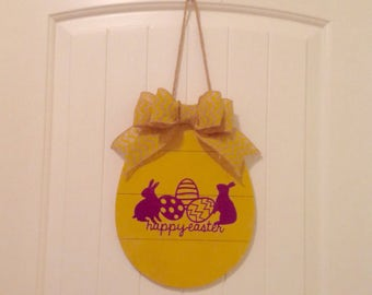 Wooden Easter Egg Wall Decor-Door Decor