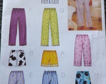 Simplicity 3314 Misses Petite Top, Shorts and Pants in sizesL-XL