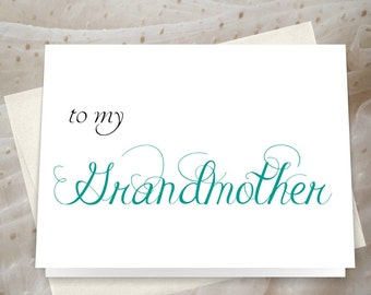 Grandmother wedding day card custom colors perfect wedding day thank you card for your grandma. JS33