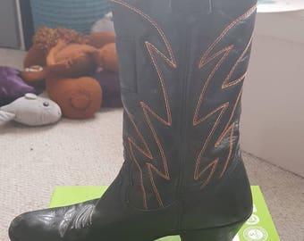Levi Cowboy Boots Glam Rock Sleaze