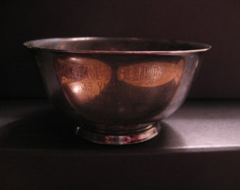 Vintage Paul Revere Reproduction Silver Plated Bowl by Oneida Silversmiths