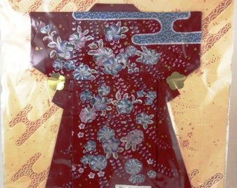 Play Handkerchief from Japan Folded into a Kimono with directions