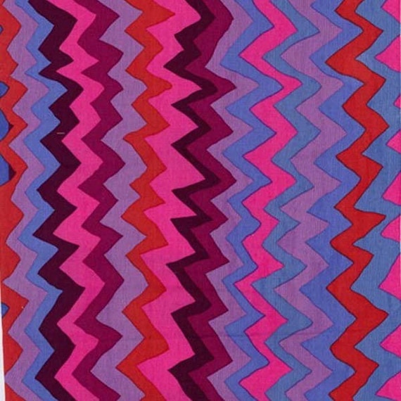 SOUND WAVES PURPLE pwbm062 Brandon Mably for Kaffe Fassett Collective Sold in 1/2 yd increments