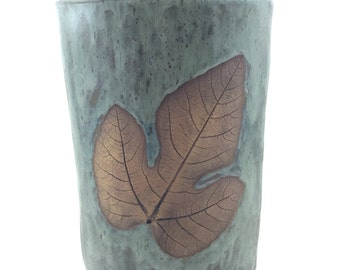Ceramic, Vase, Jug, Handmade Pottery, Home Decor, Cottage Chic, Nature, Leaf, Housewarming Gift, Original Design, Gift for Her, Wedding Gift