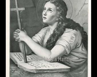 1906 Halftone Print - SAINT MARY MAGDALENE