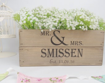 Personalised Vintage Style Small Wooden Apple Crate Wedding Crate Wedding Gift Wedding Table Centerpiece
