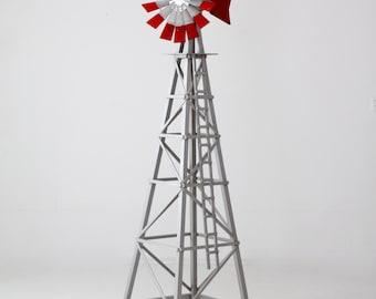 Large Garden Windmill, Vintage Decorative Windmill, Wood Lawn Ornament