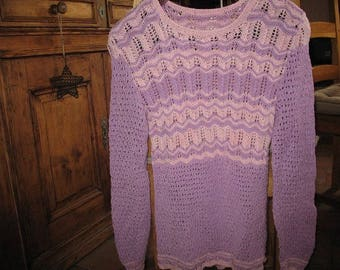 Pink Purple PULLOVER cotton long sleeve