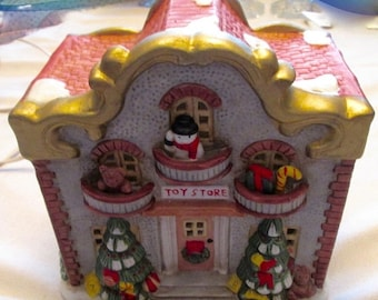 ON SALE CHRISTMAS Village Toy Store