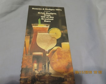 Benson & Hedges 100's Drink Recipes from 100 of the Greatest Bars Spiral-bound – 1979