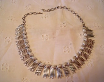 Silver Choker Vintage Sarah Coventry , Adjustable