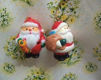 two cutie santa ornaments