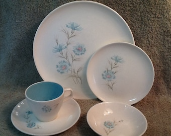 Vintage Taylor, Smith and Taylor Boutonniere Dish Set <> 34 Pc. Dinnerware Set <> Complete Svs. for SIX <> EXCELLENT CONDITION <> 1950's