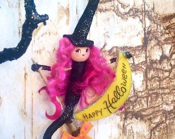 Halloween ornament halloween mermaid happy halloween vintage retro inspired