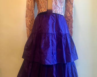 Vintage 80s Ruffle Skirt