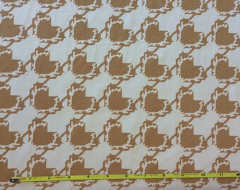 NEW Art Gallery Deer Houndstooth on cotton Lycra  knit fabric 1 yard