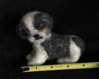 Mini Shih Tzu Handmade Needle Felted