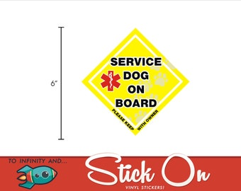 Service Dog On Board Car Decal