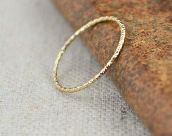 Thin Round Faceted 14k Gold Fill Rings, Dainty Gold Ring, Minimal Gold Ring, Gold Stacking Ring, Stackable Rings, Minimal Rings, Modern