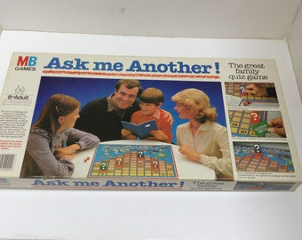 Vintage 1983 Ask Me Another board game MB Games Complete 1983