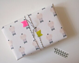 Print at Home Gift Wrap - Mister Bold-