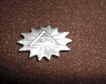 freemason,seeing eye, masonic symbol lapel pin