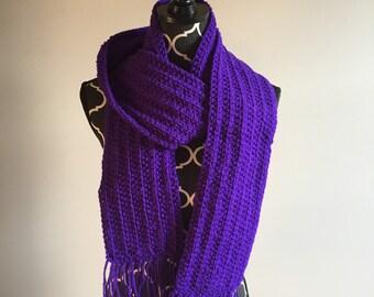 SALE! Purple Scarf With Fringe!