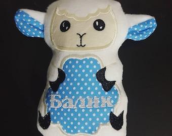 Personalized lamb stuffie
