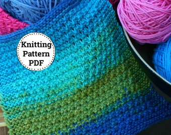 Knitting pattern, Dishcloth pattern, Pop of Color