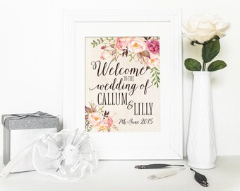 Customizable Wedding Welcome Printable: Wedding Welcome Printable, Perfect for your Special Day, Wedding Signage