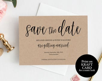 Save the Date Template, Save the Date Card, Rustic, Save the Date Printable, Save the Date, Wedding Printable, Save our Date, MM02-2