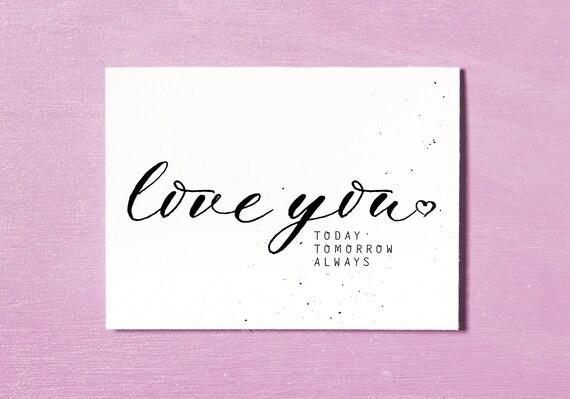 Liebe Karte Jahrestags-Karte Geburtstagskarte
