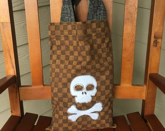 Pirate Tote Bag, Trick or Treat Bag, 10 x 12 Free Shipping in the USA