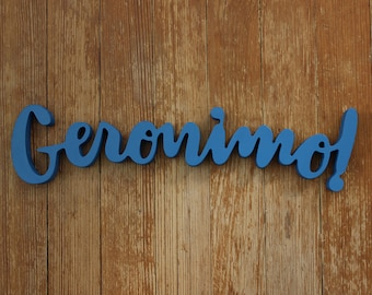 Geronimo! - Freestanding Hand Lettering - Doctor Who