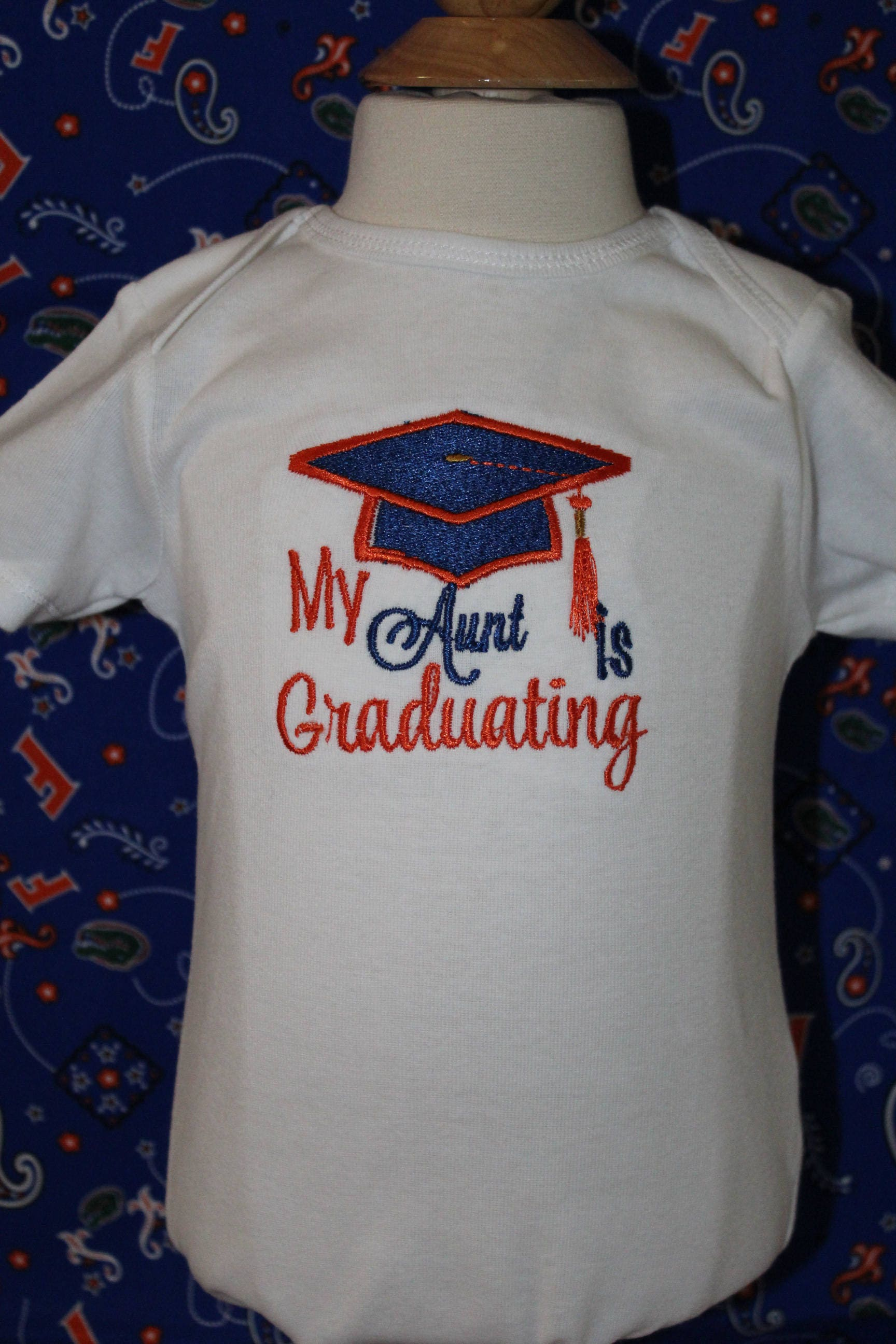 University of Florida baby graduation bodysuit UF Florida Gators
