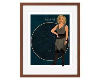 "Doctor Who River Song print - ""Hello Sweetie"""