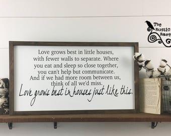 14x26 | Love grows best in little houses