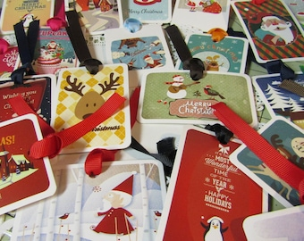 Christmas Gift Tags/Unique Gift Tags/Holiday Tags/Bag Tags/Food Tags/Stocking Stuffer Tags