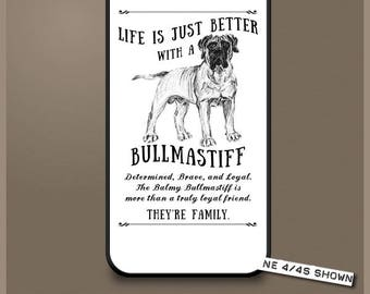 Bullmastiff dog phone case cover iPhone Samsung ~ Can be Personalised