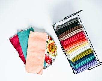 "Unpaper Towels Cloth Napkins 12 Flannel Tissues  Cleaning Cloths - Choose your color and your size (8""x 8"" or 10"" x 12"")  - 1 PLY"