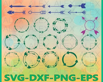 70% OFF, Arrow Svg, Arrow Circle Frame SVG File, Valentine Arrow Monogram Frames, Arrow clip art, Arrow SVG Cut Files, svg, dxf, ai,eps,png