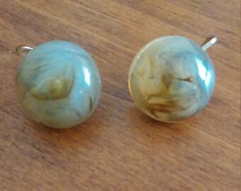 Marble Clip Earrings