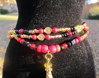 The Majestic II - Luxurious Single Strand Waist Beads