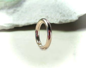 Belly Ring Pink Gold Plain - Navel Ring, Plain Belly Ring, Rose Gold Belly Ring, Pink Gold Belly Ring, Boho Belly Ring, 14 Gauge Belly Ring